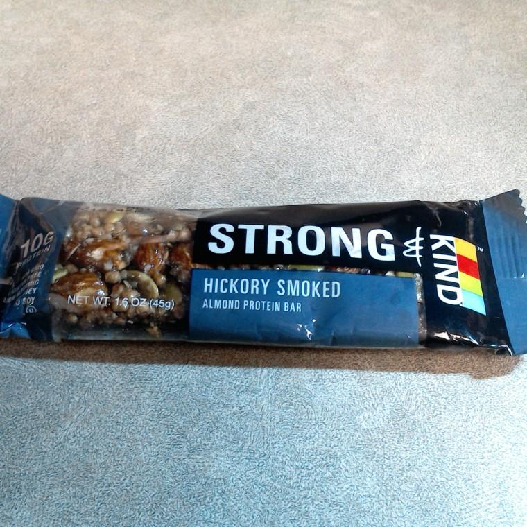 Hickory smoked almond protein bar